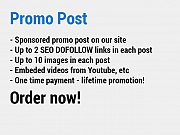 Promo post on our site
